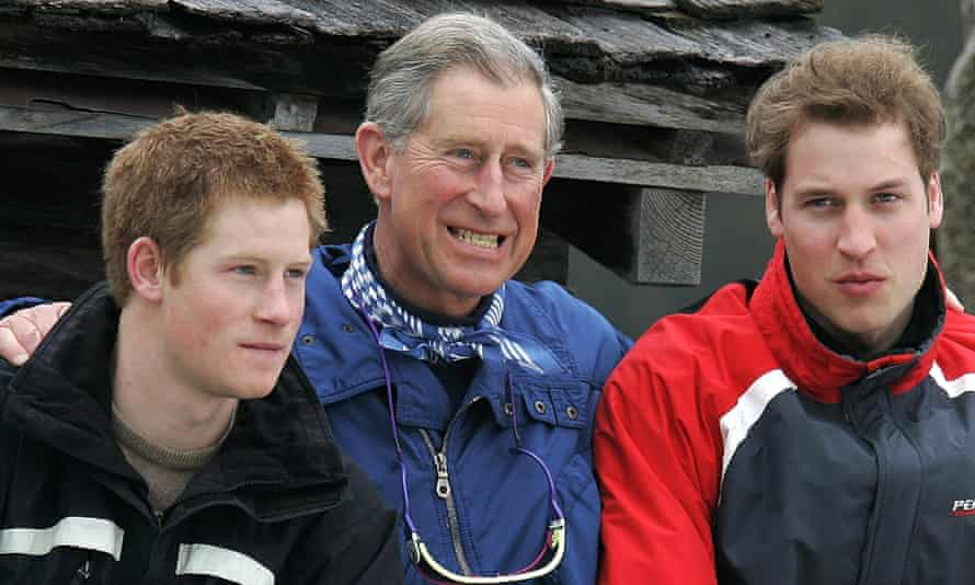 The Prince of Wales with his sons during the Klosters photoshoot in 2005.