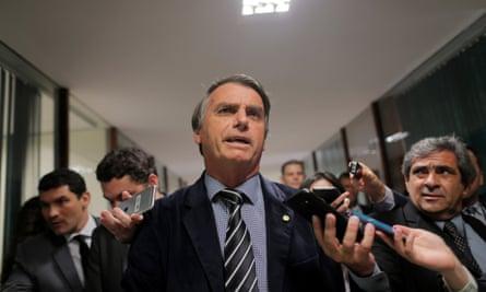 Brazil's far-right presidential candidate Jair Bolsonaro