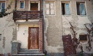 Decrepit building in Dimitrovgrad.