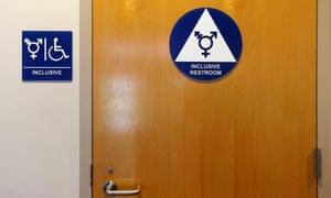 A gender neutral bathroom at a US school.