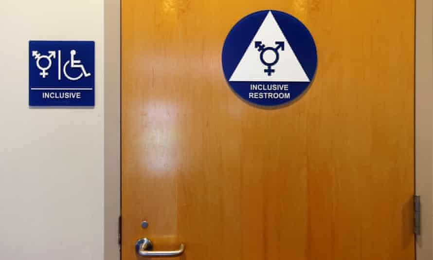A gender neutral bathroom at a US school.