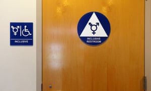 A gender neutral bathroom in California. So-called 'bathroom bills' being considered in multiple states have sparked a national debate.