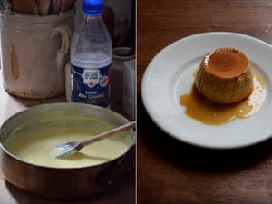 Rachel Roddy creme caramel: jus the right amount of wobble.