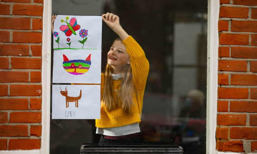 A child's artwork for the Great Big Art Exhibition