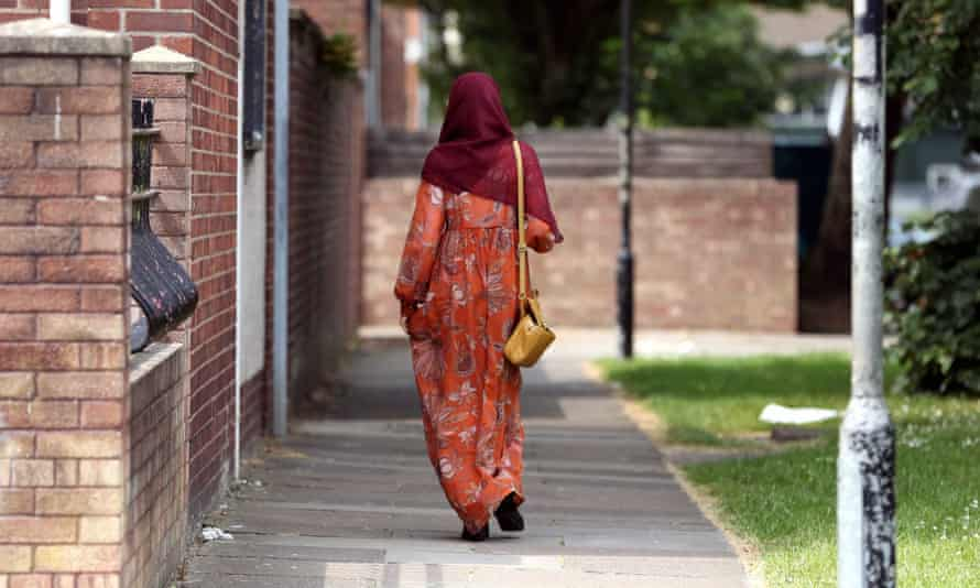 A Muslim woman in Cardiff, south Wales.