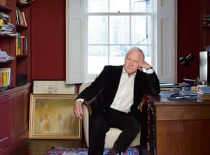 Journalist and broadcaster David Dimbleby at his home in London.