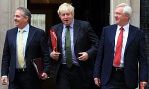 Liam Fox, Boris Johnson and David Davis.