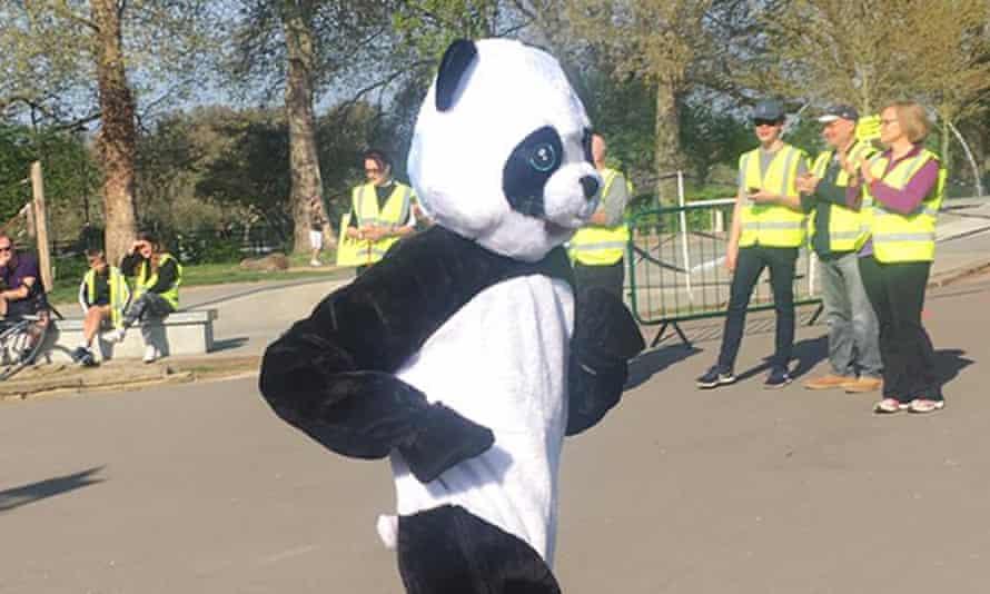 Kate Carter, panda costume