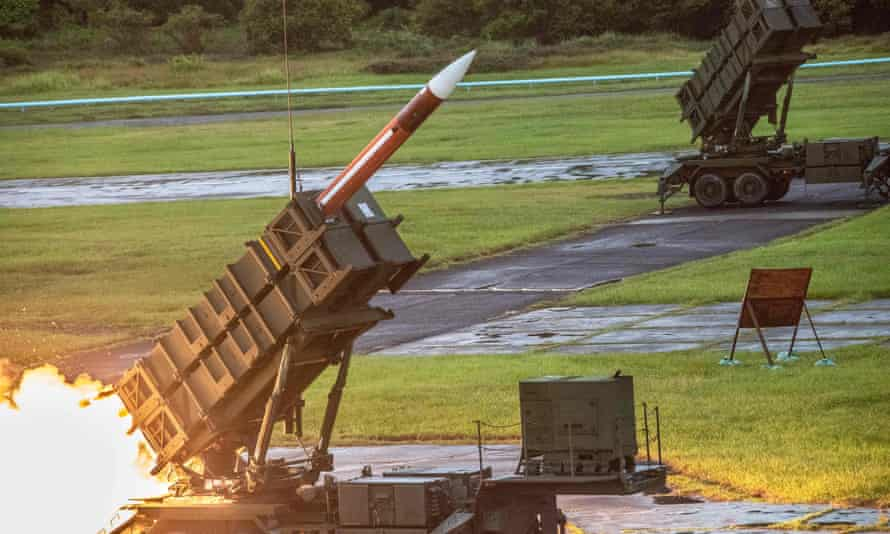 A US-made Patriot III missile.
