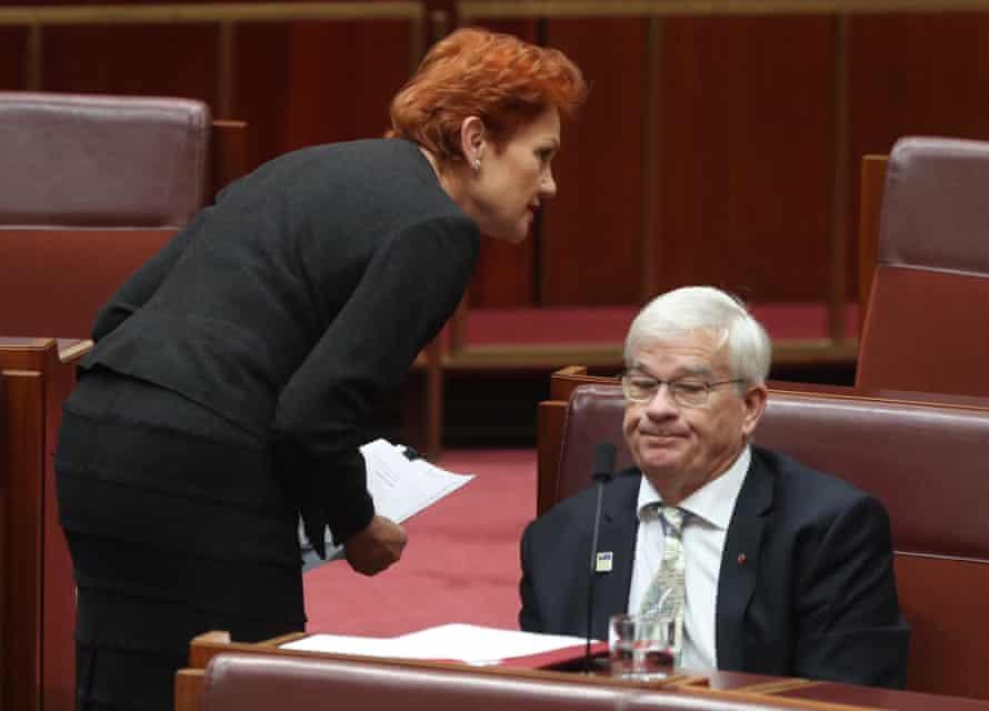 Pauline Hanson and Brian Burston