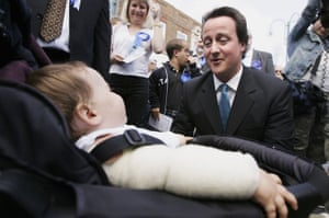 David Cameron talks  with residents of Bexleyheath, Kent