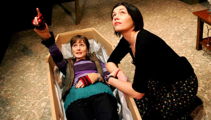 Anna Madeley and Georgia MacKenzie in Colder Than Here at Soho theatre, London, in 2005.