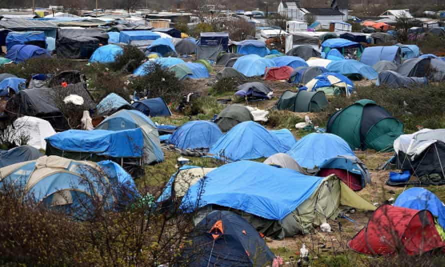 Tents in the refugee camp in Calais known as the Jungle