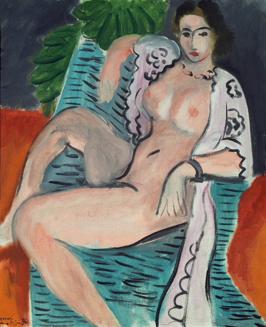 Henri Matisse 'Draped nude'
