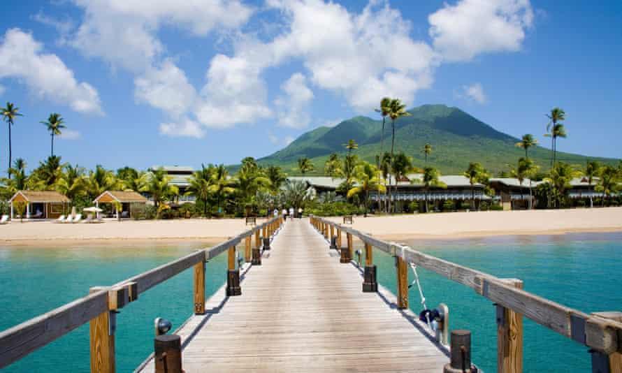 A beach on Nevis