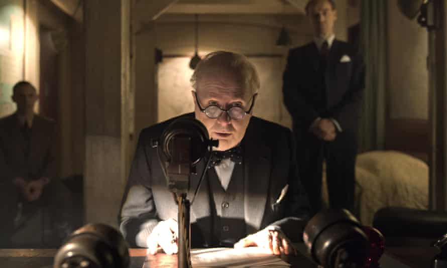 Gary Oldman as Winston Churchill in Working Title's Darkest Hour.