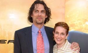 Loved up: Waldman and husband Michael Chabon.