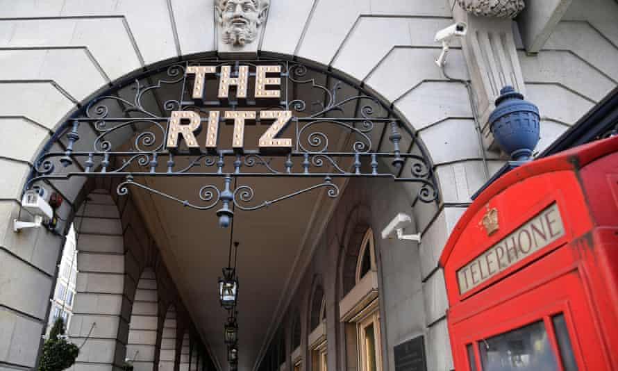 The Ritz hotel entrance