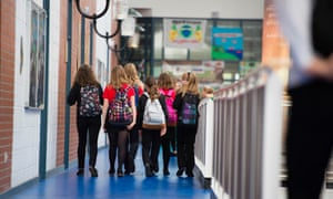 Girls walking to classes