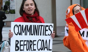 Environmental protesters in Sydney on August 13.