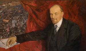 V.I.Lenin and Manifestation by Isaak Brodsky.