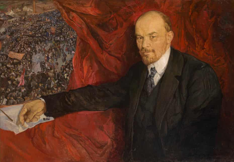 'Signatures for the condemned' … VI Lenin and Manifestation, 1919, by Isaak Brodsky.