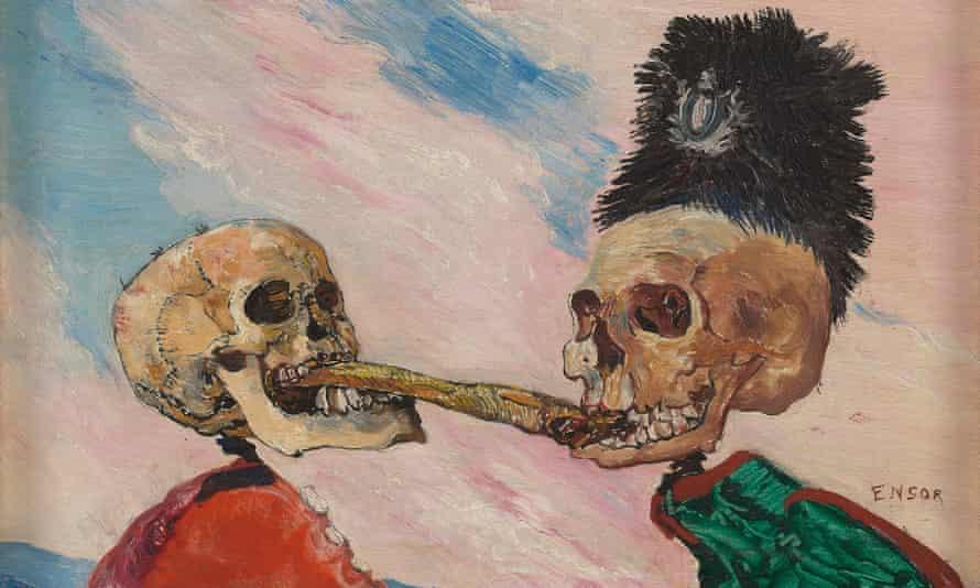 Ensor's Skeletons Fighting Over a Pickled Herring.