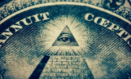 All-seeing … eye of the illuminati on a bank note. Photograph: Alamy