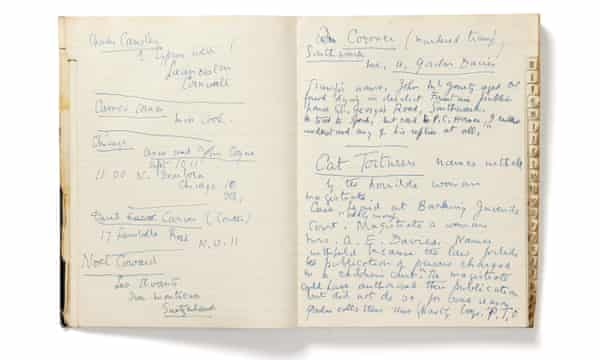 Edith Sitwell's address book