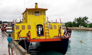 The ferry MV Butiraoi, which is believed to have sunk in the remote Pacific.