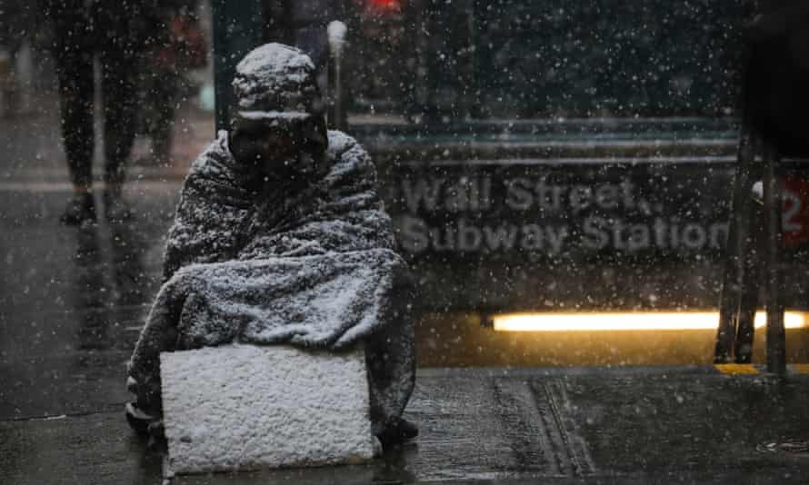 a homeless person in New York City.