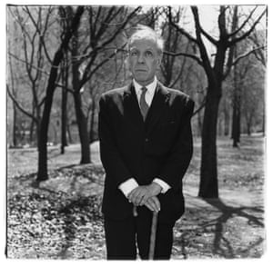 Jorge Luis Borges in Central Park in 1969