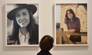 Two of the portraits of the duchess on display in the National Portrait Gallery.