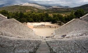 The ancient theatre at Epidaurus in Greece