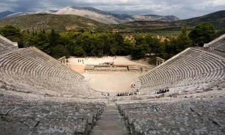 The great theatre at Epidaurus.