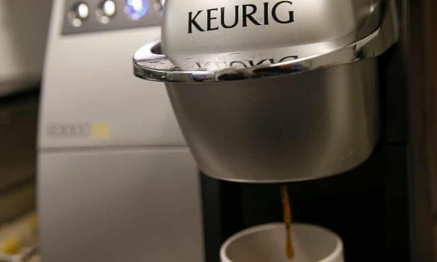 A single-serve Keurig Green Mountain coffee machine
