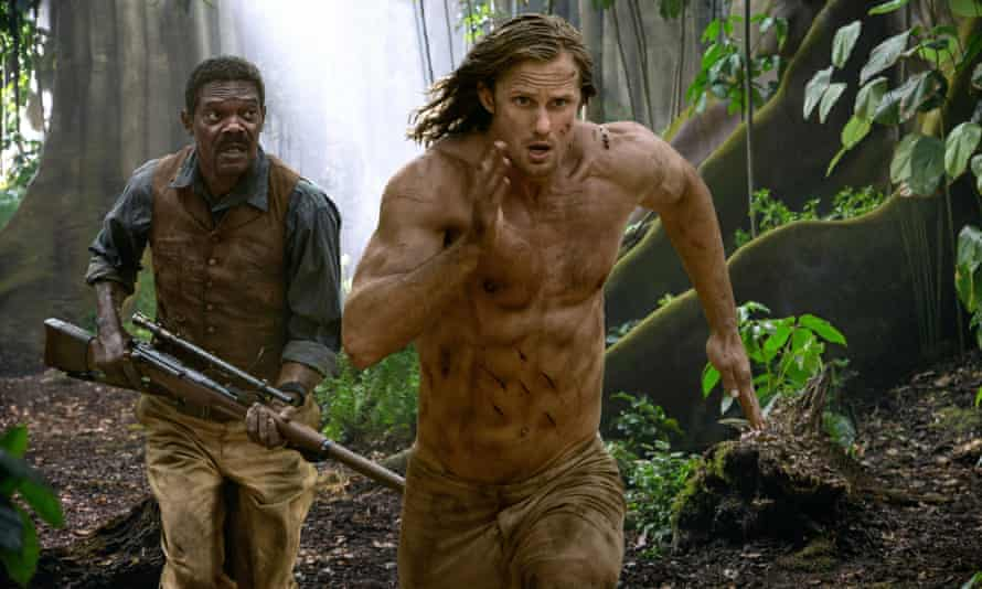 Samuel L Jackson Alexander Skarsgård the Legend of Tarzan.