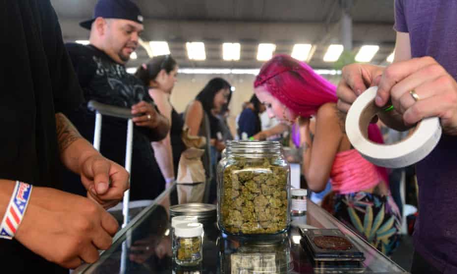 A marijuana dispensary in Los Angeles.