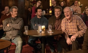 Generation games … Mel Gibson as Kurt, Mark Wahlberg as Dusty, Will Ferrell as Brad and John Lithgow as Don in Daddy's Home 2.