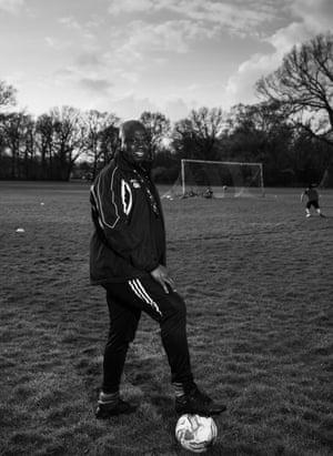 Heath Park Rangers U13's coach, Charles Nyamhotsi