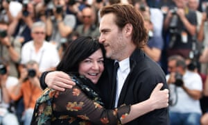 Lynne Ramsay, director of You Were Never Really Here, with her lead actor, Joaquin Phoenix.