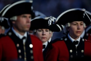 Orlando, US: Members of the Army Old Fife and Drum Corps
