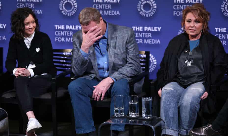 Sara Gilbert, John Goodman and Roseanne Barr in March.