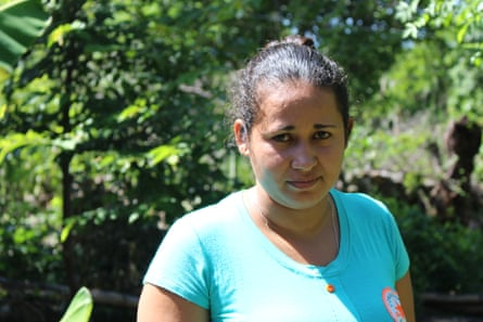 Estrella Alfaro, deported from the US has made a new life in the rainforests of north El Salvador