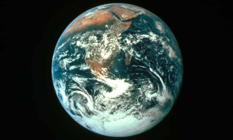 Dirty planet: Earth seen from space.