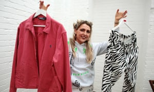 Caitlin Young picks up clothes in charity shops and jumble sales to sell on Depop.