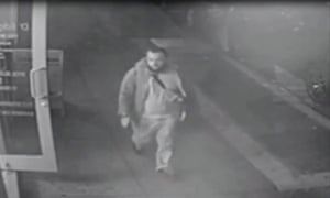 This video grab image released Monday by the New Jersey state police allegedly shows Ahmad Khan Rahami.
