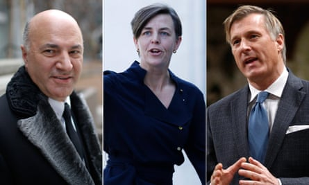 Kevin O'Leary, Kellie Leitch and Maxime Bernier