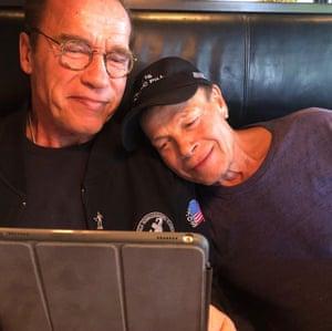 Columbu with Schwarzenegger.