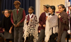 Pupils at West Park primary in Wolverhampton rehearse a play marking the 50th anniversary of Enoch Powell's 'rivers of blood' speech.